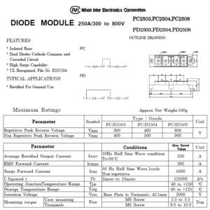 PD2508 데이터시트